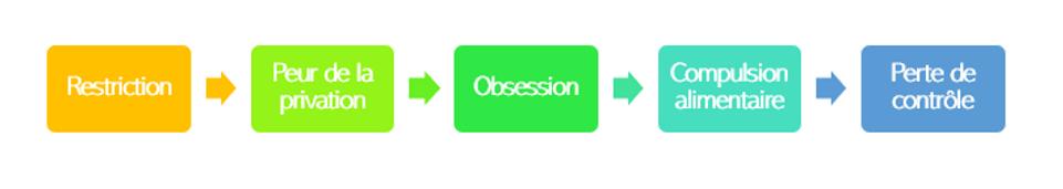 Restriction - Peur de la privation - Obsession - Compulsion alimentaire - Perte de contrôle